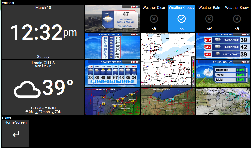 Share your favorite Weather Media Tiles? / ActionTiles Forum